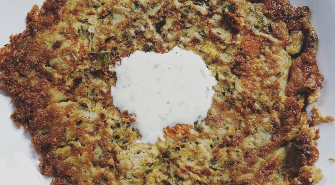 Lunchbox Journals; Gluten free Turkish Inspired Courgette Pancakes
